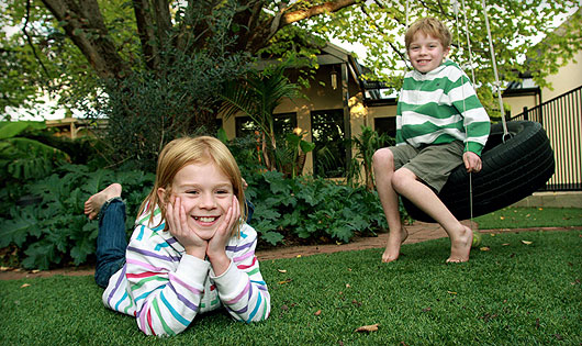 Synthetic Grass and Children